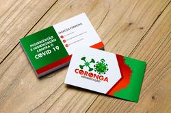 Cartão para Empresa de Higienização contra Covid-19
