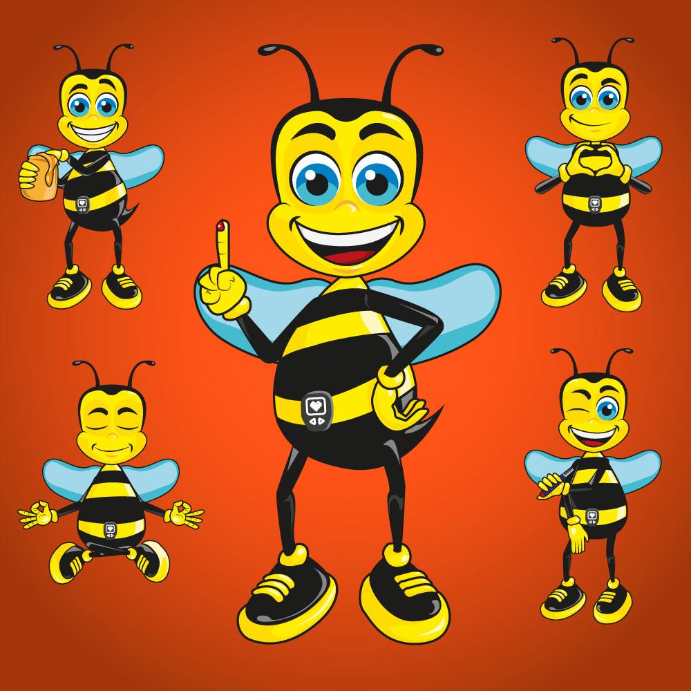 Mascote Abelha