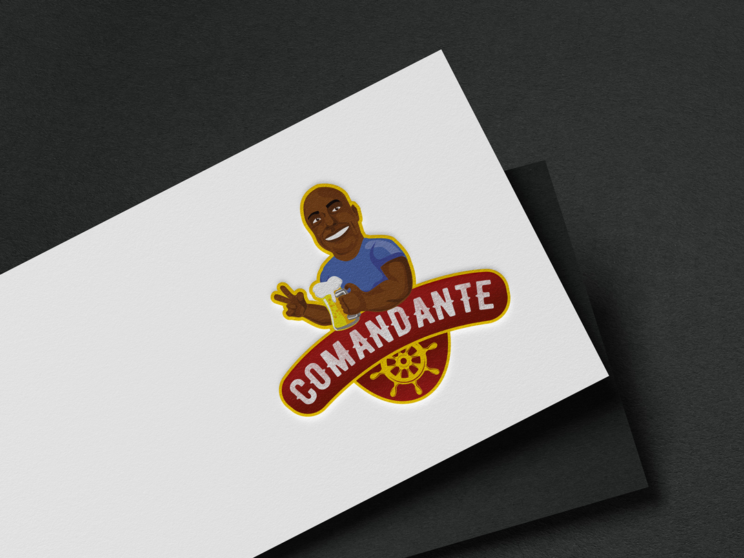 Logotipo com caricatura