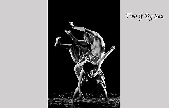 modern dance, twisted shape contemporary dance, duet,