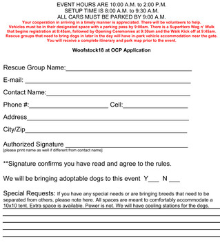 Rescue Woofstock SignUp