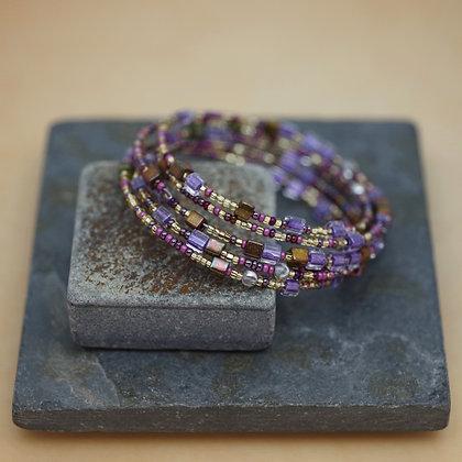 Montana Traci Staves beaded bracelet purples