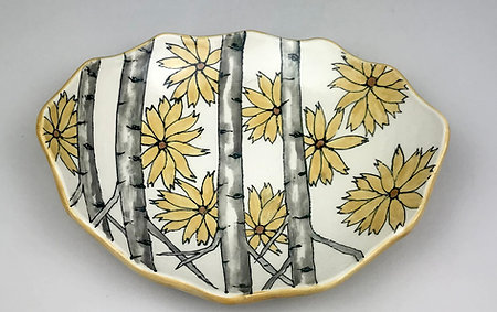 Scallop Sunflower Bowl