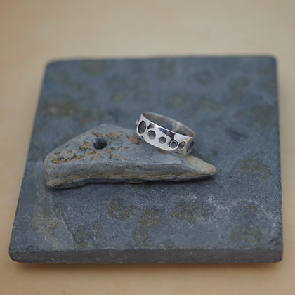 sterling silver ring with cutouts, Albert Chaney