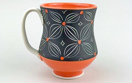 Orange and Slate Mug