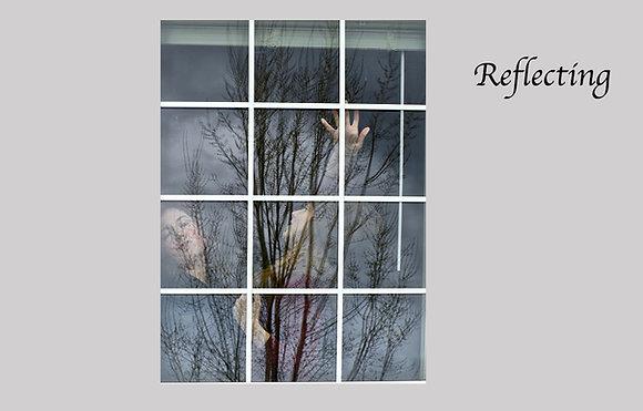 Dancers in window, reflection tree, modern dance movements