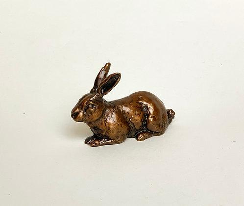 bronze bunny, rabbit art, bunny sculpture, original bronze art, solid bronze rabbit