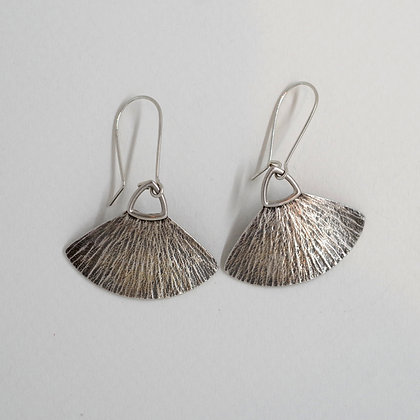 textured sterling silver dangle earrings, Pam Caidin