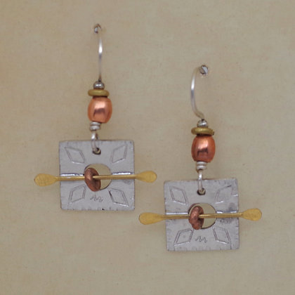 Copper beads silver squares brass arows QMiller