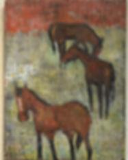 Adair Peck 3 Horses Red Sky.jpg