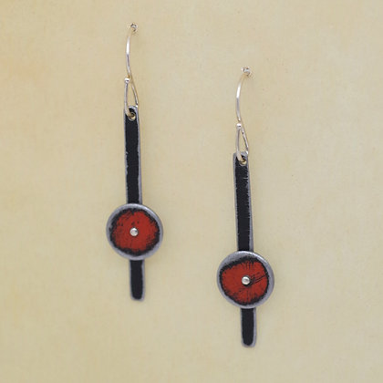 red circles 62 Ford Falcon black bars 73 Ford LTD earrings