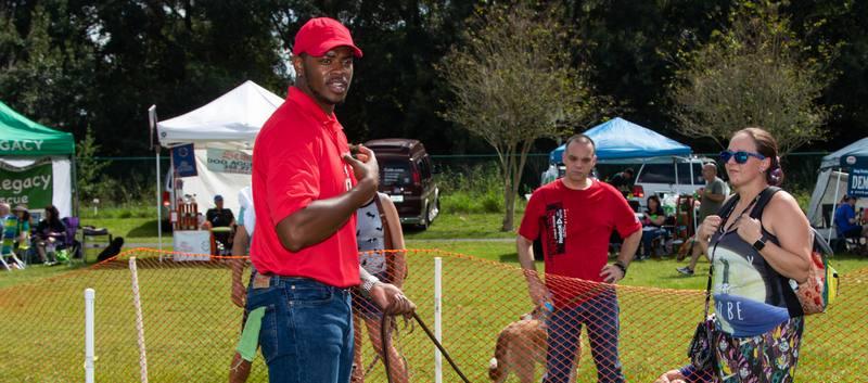 One of Lorenzo's Dog Training Team