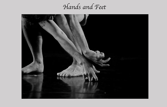 Modern dance, contemporary dance, black and white photograph