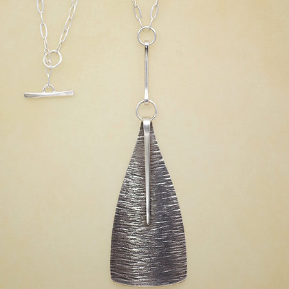 Textured Sterling Necklace