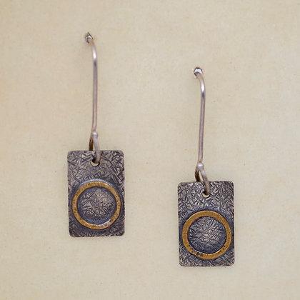 contemporary earrings, textured sterling, Karen Chesna