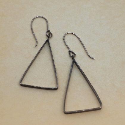 textured triangle earrings, Karen Chesna