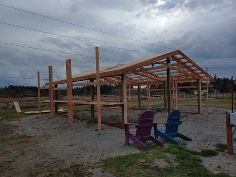 Since this was going to be a house we framed with 2x8 lumber instead of the standard 2x6.