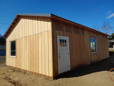 All that's left to install are the gutters.