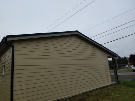 Cement lap siding is another popular choice.