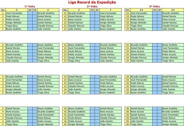 Liga Calendario.Calendario Liga Record Da Expedicao