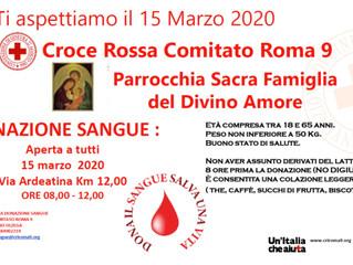 15 Marzo: vieni a donare !