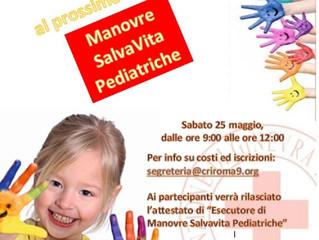 Al via il nuovo corso di Manovre Salvavita Pediatriche.