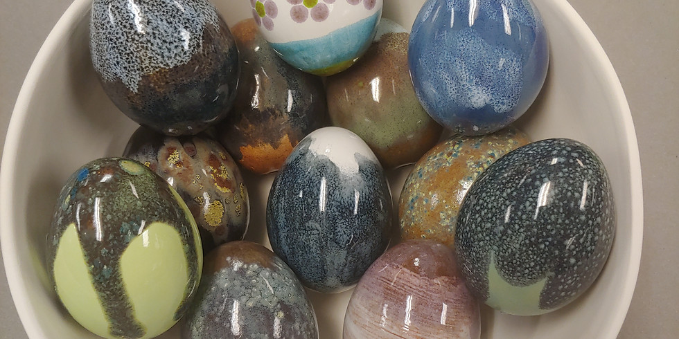 ADULT Easter Egg Class Featuring Pottery Glazes