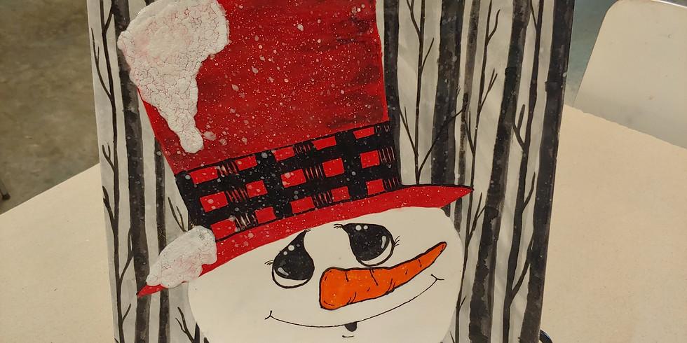 Sweet Snowman Plate