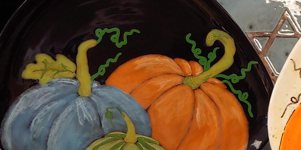 Pumpkin Plate Class DARK COLORS