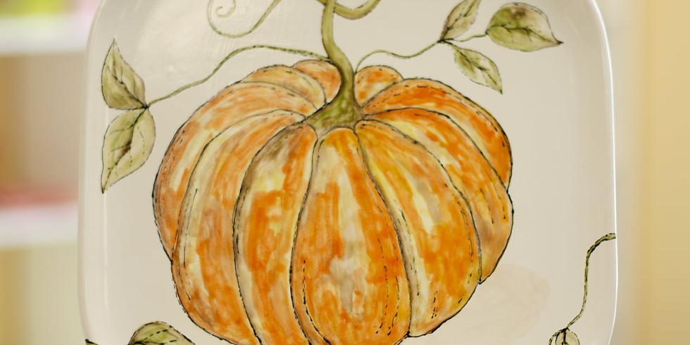 Fall Pumpkin Plate Class