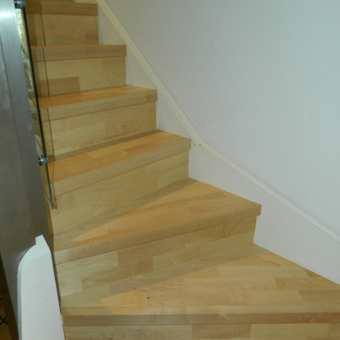 Installation of wooden stairs in Eastbourne