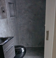 Polished microcement walls in Brighton
