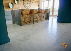 Polished micro concrete floor in London SW1