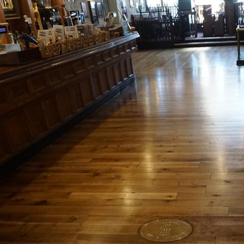 Sanding Oak floor in the pub