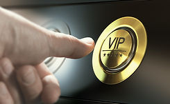 Man with private access to VIP services