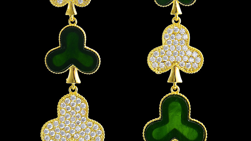 Three Of  Clubs Earring