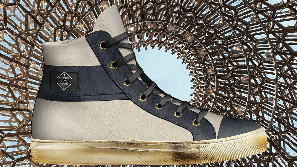Black Cream High Top Sneakers