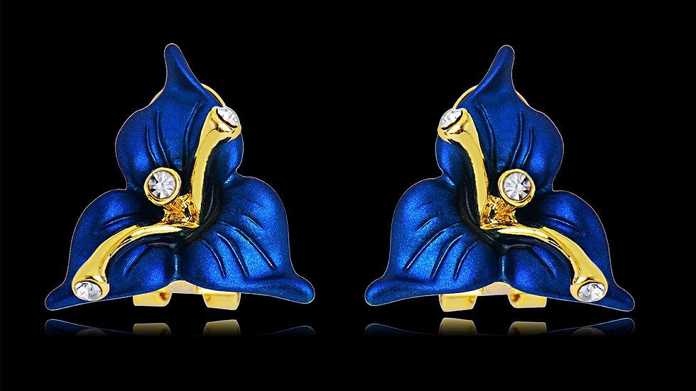 Blue Night Petal Earring
