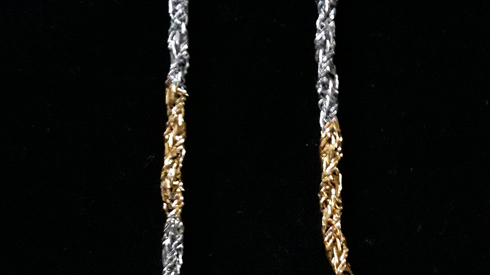 Silver & Gold Twisted Rope Chain