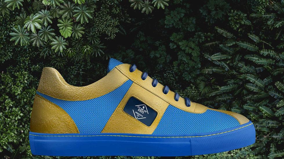 Gold & Blue Low Sneaker