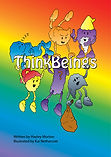 Thinkbeings book cover. Rainbow background, lazy, naughty, wise, happy, confused, sad characters