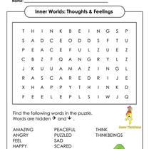 1. Book Week 2021: (Yr1-3) Word Search Inner World