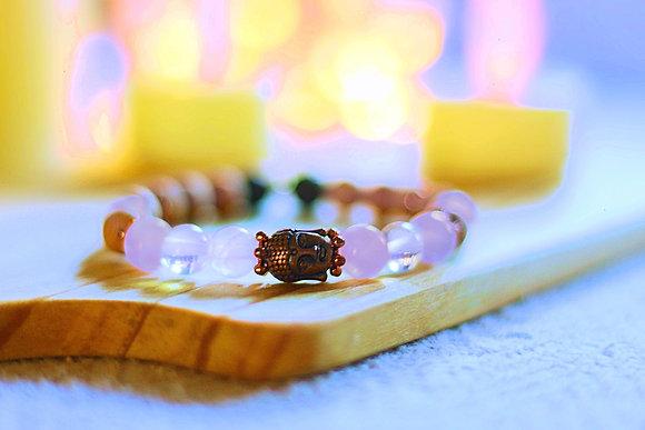 Peace & Love Mala Bracelet