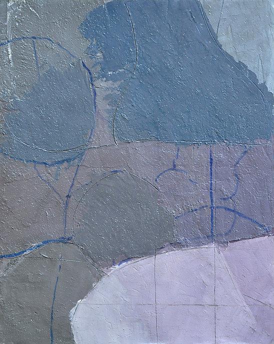 Alfredo Chighine, Composizione, 1973, olio su tela, 81x65 cm