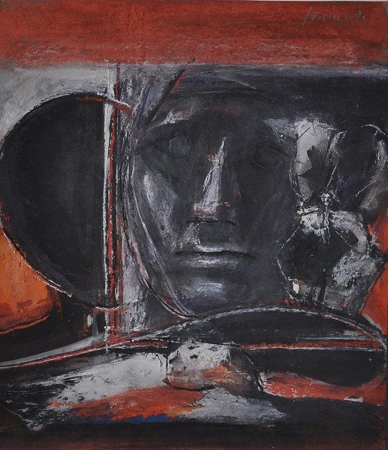 Studio per l'atelier, 1991, tempera e gu