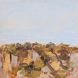 Ennio Morlotti, Roccie 1985 olio su tela 50 x 50 cm