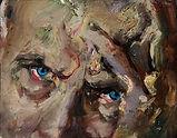 Giancarlo Vitali, ritratto di G.Testori 1991 olio su tavola 18 x 14 cm