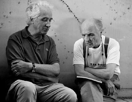 Berardino Luino con Antonio López García, Madrid 7 Settembre 2011