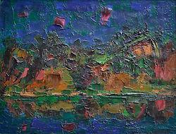 Ennio Morlotti, Adda, 1954, olio su tela