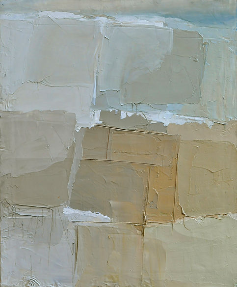 Alfredo Chighine, composizione, 1967, olio su tela, 65x54